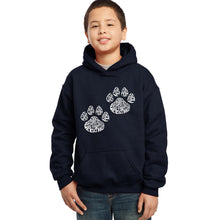Load image into Gallery viewer, LA Pop Art Boy's Word Art Hooded Sweatshirt - Cat Mom