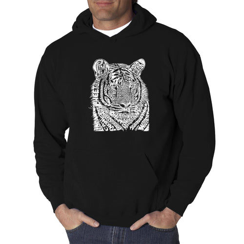 LA Pop Art  Men's Word Art Hooded Sweatshirt - Big Cats