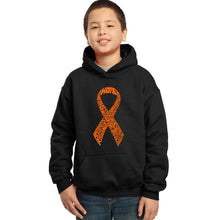 Load image into Gallery viewer, LA Pop Art Boy's Word Art Hooded Sweatshirt - Ms Ribbon