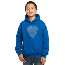 Load image into Gallery viewer, LA Pop Art Boy's Word Art Hooded Sweatshirt - WILLIAM SHAKESPEARE'S SONNET 18