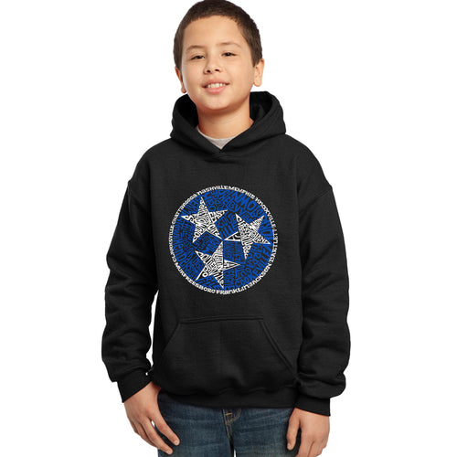 LA Pop Art Boy's Word Art Hooded Sweatshirt - Tennessee Tristar