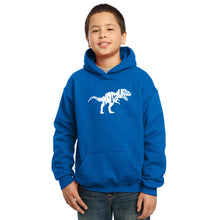 Load image into Gallery viewer, LA Pop Art Boy's Word Art Hooded Sweatshirt - TYRANNOSAURUS REX