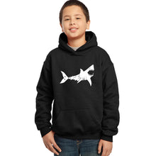 Load image into Gallery viewer, LA Pop Art Boy's Word Art Hooded Sweatshirt - BITE ME