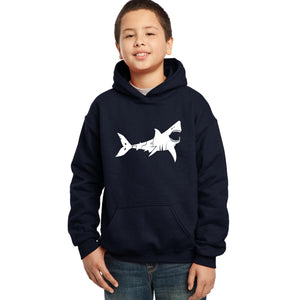 LA Pop Art Boy's Word Art Hooded Sweatshirt - BITE ME