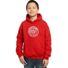 Load image into Gallery viewer, LA Pop Art Boy's Word Art Hooded Sweatshirt - SMILE IN DIFFERENT LANGUAGES