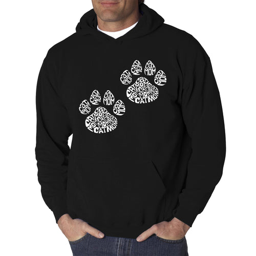 LA Pop Art Men's Word Art Hooded Sweatshirt - Cat Mom