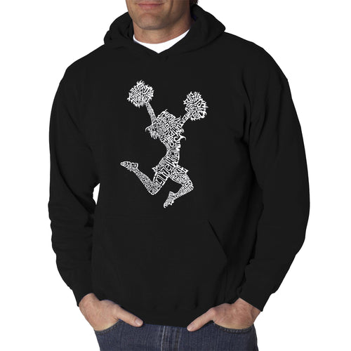 LA Pop Art Men's Word Art Hooded Sweatshirt - Cheer