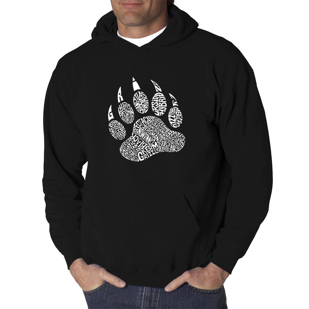 LA Pop Art  Men's Word Art Hooded Sweatshirt - Types of Bears