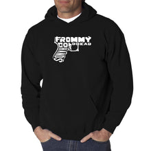 Load image into Gallery viewer, LA Pop Art  Men's Word Art Hooded Sweatshirt - Out of My cold Dead Hands Gun