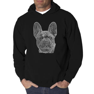 LA Pop Art Men's Word Art Hooded Sweatshirt - French Bulldog