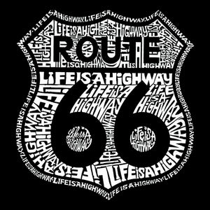 LA Pop Art Men's Word Art T-shirt - Life is a Highway
