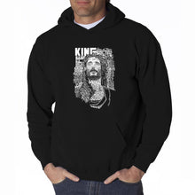 Load image into Gallery viewer, LA Pop Art Men's Word Art Hooded Sweatshirt - JESUS