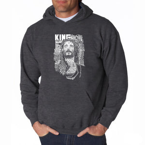 LA Pop Art Men's Word Art Hooded Sweatshirt - JESUS