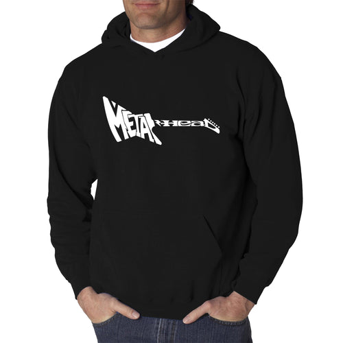 LA Pop Art Men's Word Art Hooded Sweatshirt - Metal Head