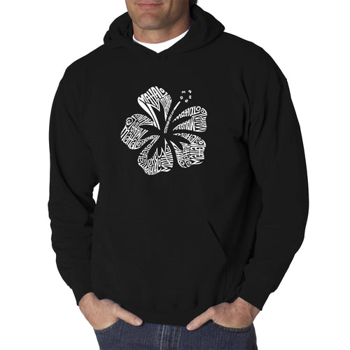LA Pop Art Men's Word Art Hooded Sweatshirt - Mahalo