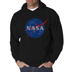 LA Pop Art  Men's Word Art Hooded Sweatshirt - NASA's Most Notable Missions