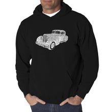 Load image into Gallery viewer, LA Pop Art Men's Word Art Hooded Sweatshirt - Mobsters
