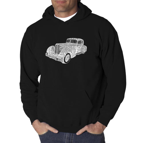 LA Pop Art Men's Word Art Hooded Sweatshirt - Mobsters