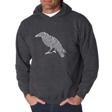 Load image into Gallery viewer, LA Pop Art  Men's Word Art Hooded Sweatshirt - Edgar Allan Poe's The Raven