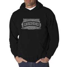 Load image into Gallery viewer, LA Pop Art Men's Word Art Hooded Sweatshirt - The US Ranger Creed