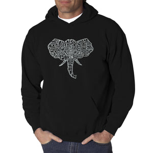 LA Pop Art Men's Word Art Hooded Sweatshirt - Tusks