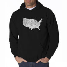 Load image into Gallery viewer, LA Pop Art Men's Word Art Hooded Sweatshirt - THE STAR SPANGLED BANNER