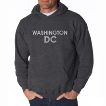 Load image into Gallery viewer, LA Pop Art Men's Word Art Hooded Sweatshirt - WASHINGTON DC NEIGHBORHOODS