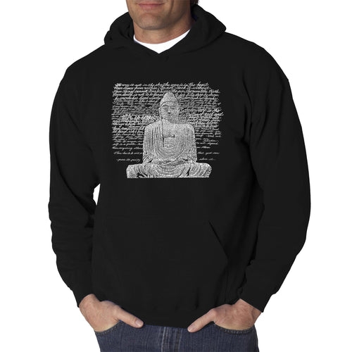 LA Pop Art Men's Word Art Hooded Sweatshirt - Zen Buddha