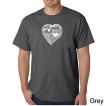 Load image into Gallery viewer, LA Pop Art Men's Word Art T-shirt - LOVE IN 44 DIFFERENT LANGUAGES