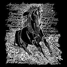 Load image into Gallery viewer, LA Pop Art Men's Word Art T-shirt - POPULAR HORSE BREEDS