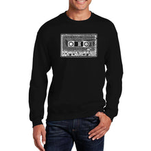Load image into Gallery viewer, LA Pop Art Men's Word Art Crewneck Sweatshirt - The 80's