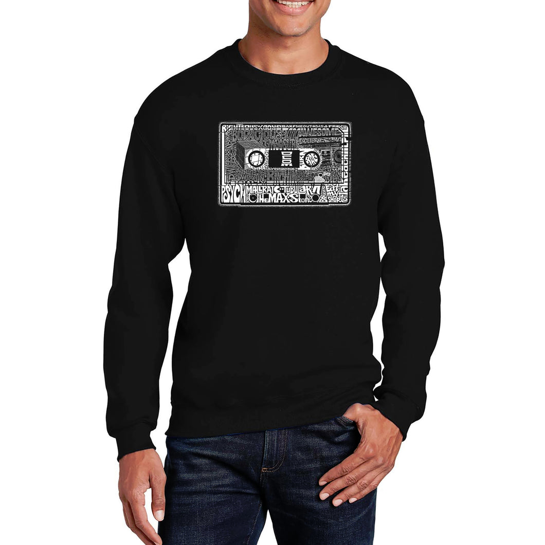 LA Pop Art Men's Word Art Crewneck Sweatshirt - The 80's