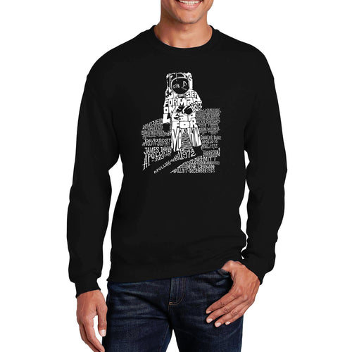 LA Pop Art Men's Word Art Crewneck Sweatshirt - ASTRONAUT