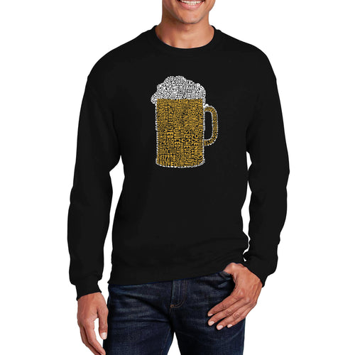 LA Pop Art Men's Word Art Crewneck Sweatshirt - Slang Terms for Being Wasted
