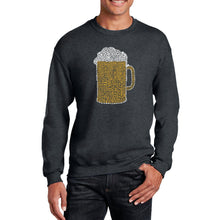 Load image into Gallery viewer, LA Pop Art Men's Word Art Crewneck Sweatshirt - Slang Terms for Being Wasted