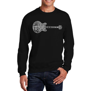 LA Pop Art  Men's Word Art Crewneck Sweatshirt - Blues Legends