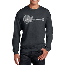Load image into Gallery viewer, LA Pop Art  Men's Word Art Crewneck Sweatshirt - Blues Legends