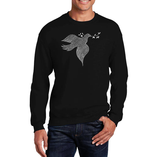LA Pop Art  Men's Word Art Crewneck Sweatshirt - Dove