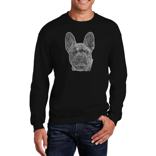 LA Pop Art Men's Word Art Crewneck Sweatshirt - French Bulldog