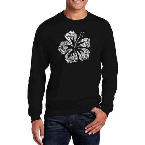 LA Pop Art Men's Word Art Crewneck Sweatshirt - Mahalo