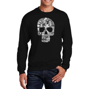 LA Pop Art Men's Word Art Crewneck Sweatshirt - Sex, Drugs, Rock & Roll