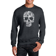 Load image into Gallery viewer, LA Pop Art Men's Word Art Crewneck Sweatshirt - Sex, Drugs, Rock & Roll