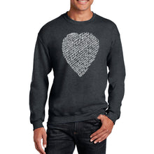Load image into Gallery viewer, LA Pop Art Men's Word Art Crewneck Sweatshirt - WILLIAM SHAKESPEARE'S SONNET 18