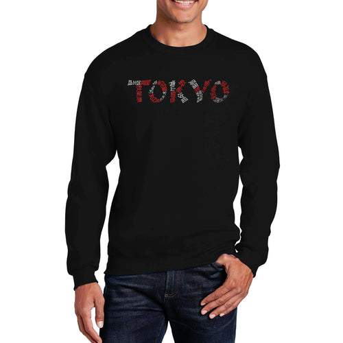LA Pop Art Men's Word Art Crewneck Sweatshirt - THE NEIGHBORHOODS OF TOKYO