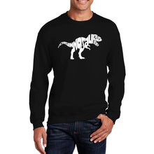 Load image into Gallery viewer, LA Pop Art Men's Word Art Crewneck Sweatshirt - TYRANNOSAURUS REX