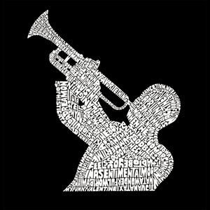 LA Pop Art Men's Word Art T-shirt - ALL TIME JAZZ SONGS