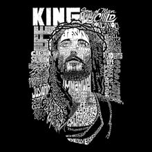 Load image into Gallery viewer, LA Pop Art Men's Word Art Long Sleeve T-shirt - JESUS