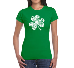 LA Pop Art Women's Word Art T-Shirt - KISS ME I'M IRISH