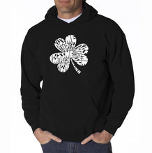 Load image into Gallery viewer, LA Pop Art Men's Word Art Hooded Sweatshirt - KISS ME I'M IRISH