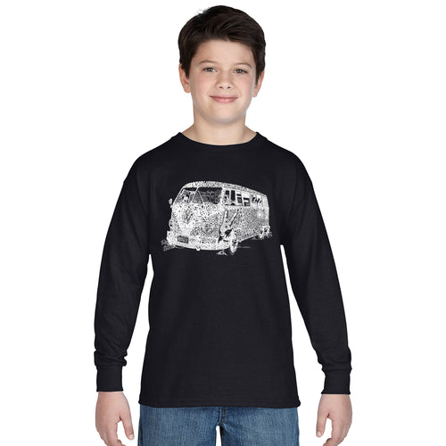 LA Pop Art Boy's Word Art Long Sleeve - THE 70'S